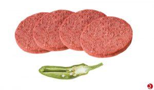 burger meat vacuno 100